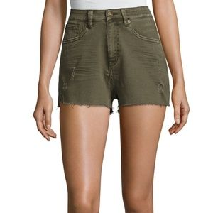 Union Bay Destructed Denim Shorts-Juniors New